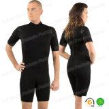 SGS 검정을%s 가진 짧은 소매 상단 급료 내오프렌 수영 착용