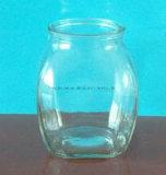 frasco de vidro do armazenamento de 300ml/500ml Hexgonal para o alimento e o mel