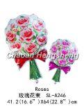Розовый воздушный шар фольги