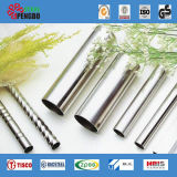 201/304 tube soudé d'acier inoxydable de pente pour la décoration