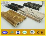 Ново украсьте искусственний мраморный каменный PVC пластмассы обходя линию