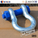 Wir Type Steel Forged Galvanized Bow Shackle mit Sicherheitsnadel