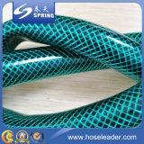 Boyau tressé de l'eau d'irrigation de jardin de fibre flexible en plastique