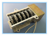6개의 4개의 장착 구멍을%s 가진 까만 바퀴 알루미늄 프레임 힘 미터 카운터