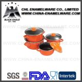Eco Friendly Non Stick em pote de esmalte de ferro fundido com baketile Handle