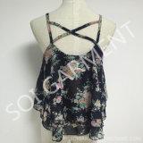 Heißer Verkaufs-Chiffon- Druck-Form-Oberseite-Bluse für Damen (BL-205)