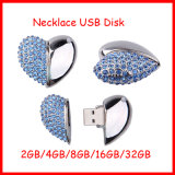 USB Flash Drive corazón de la joyería Pendrive Thumbdrive U disco USB