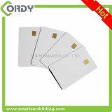Lege witte het contactIC van pvc geheugenkaart met spaander Sle4442/sle5542