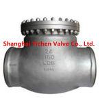 Clapet anti-retour de la Chine de bride d'acier inoxydable d'oscillation (H44W)