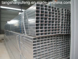 tubo de acero cuadrado 30-80G/M2 y rectangular pre galvanizado cubierto Zin