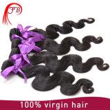 Pacotes indianos do cabelo humano de Remy do Virgin não processado por atacado da onda do corpo