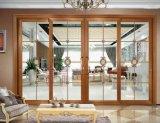 Porte coulissante en aluminium personnalisée de trois pistes pour la Chambre résidentielle