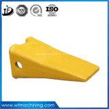 Peças do forjamento da cubeta da máquina escavadora Cat325 dos dentes da cubeta do dente da cubeta e do adaptador da cubeta