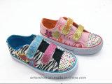Zapatos de los niños vulcanizados Bling de la manera de Bling con las piedras (ET-LH160293K)