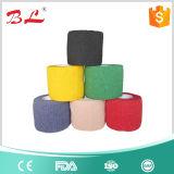 Vendaje cohesivo flexible impreso no tejido del abrigo del veterinario