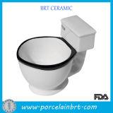 Tazza di caffè di ceramica del tè della caramella del regalo di figura divertente della toletta
