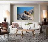 Het in het groot Olieverfschilderij Van uitstekende kwaliteit van de Decoratie, het Schilderen van de Decoratie van het Huis, het Schilderen van de Kunst (leeuw op het horloge)