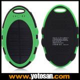 5000mAh cargador solar impermeable de la batería externa con el USB dual