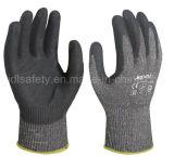 Нитрил покрыл Анти--Отрезал перчатку работы с стальным волокном (ND6508)