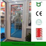 Portello di alluminio della stoffa per tendine lustrato doppio e portello Pnoccd0009 di vetro