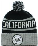 Personalizado parche bordado jacquard de punto casquillo hecho punto sombrero