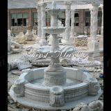 Фонтан Mf-114 Carrara мраморный каменного гранита напольный белый