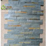 جيّدة سعر اللون الأخضر طبيعيّ ينقسم سطحيّة أردواز ثقافة حجارة لأنّ جدار زخرفة