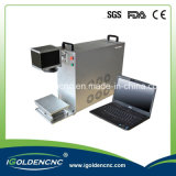 máximo portable del laser de la fibra de la zona de trabajo 110X110 30W usado para el metal