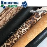 Cuir de chaussure chaud de PVC de vente avec le prix bon marché
