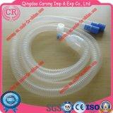 Tubo corrugado de circuito de respiración anestésico desechable
