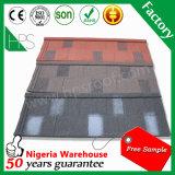 Telhar de aço revestido das telhas das telhas de telhado do metal da pedra do material de construção