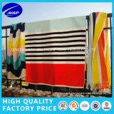 De algodão do fio do jacquard do Velour de praia de toalha toalha 100% de banho tingida