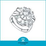 De charmante Juwelen van de Ring van de Vonk Zilveren met CZ (r-0600)