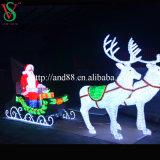 عيد ميلاد المسيح حياة - حجم [لد] رنة [سلي] مع [سنتا] كلاوس