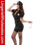 Vendita calda sexy più il costume della polizia di formato