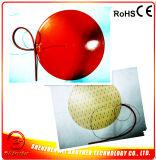 Calefator adesivo redondo do silicone do termistor 100k da esteira 170mm 12V 120W 3m do calefator do silicone