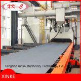 Aço Plate Roller Conveyor Tipo Wheel Blast Machine Q698
