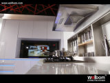 Vrije Witte Moderne Hoog van de Steekproef polijst Slimme LEIDENE Keukenkast