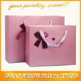 Gift de papel Bag com Ribbon Bow (BLF-PB065)