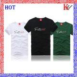 Le coton estampé par adulte des hommes ou T-shirt court de chemise de polyester