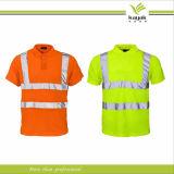 Uniforme reflexivo personalizado da camisa do polo T do trabalho da segurança (F25)