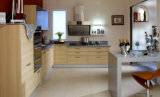 Manufatura moderna do gabinete de cozinha da placa da melamina do estilo (zg-023)