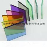 ISO/세륨/SGS 증명서를 가진 6.38-42.3mm 명확한 색을 칠한 박판으로 만들어진 유리