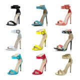 Madame en cuir Sandals (S11) de talon haut de mode