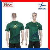 T-shirt van de Druk van de Sublimatie van Healong de In het groot Aangepaste Volledige