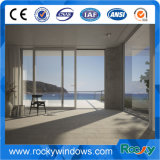Aluminio de cristal endurecido Inferior-e Windows de desplazamiento del perfil superior 6063-T5