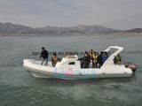 Bateau gonflable de sport de luxe de yacht de bateau de côte de Liya 8.3m Hypalon avec du CE