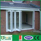 Pliage en aluminium en verre de double vitrage de qualité/porte Bifold/porte de Bifolding