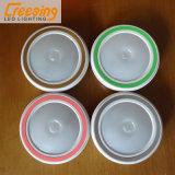 4つのカラープラスチック誘導LED夜ライト