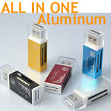 Alle in einem Kartenleser /Multi in 1 Kartenleser SD/SDHC, MMC/RS MMC, TF/Microsd, Ms/Ms PRO/Ms Duo, M2-Kartenleser-Großverkauf (TF-0165)